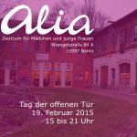 Alia Postkarte Eröffnung 2015
