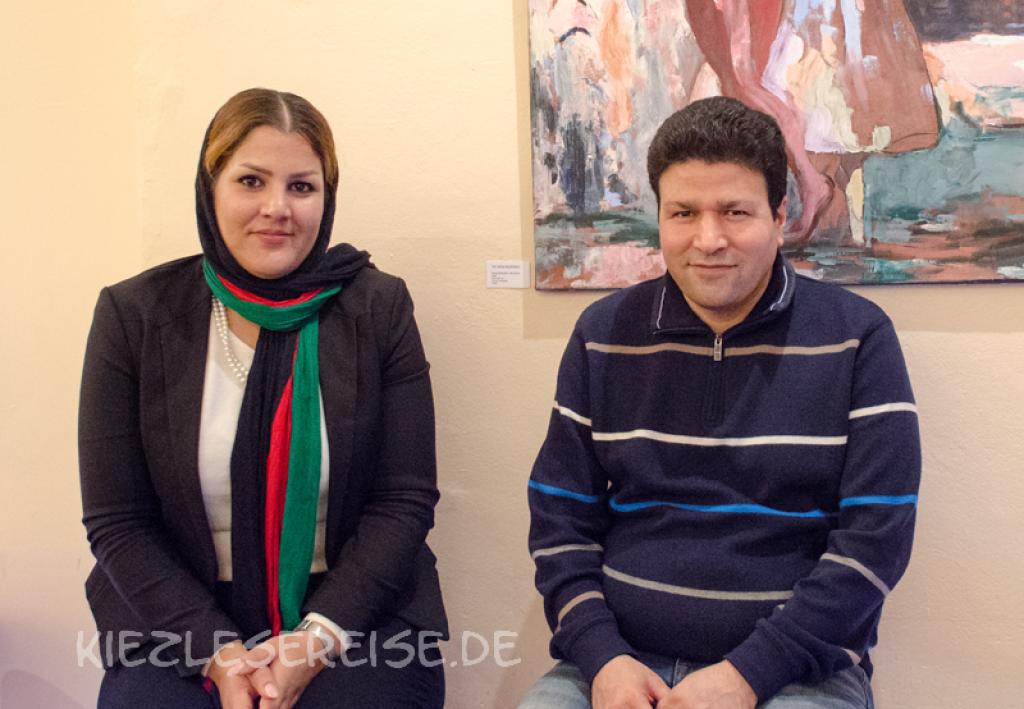 Sharmila Hashimi und Ehsan Mehrabi © Kiezlesereise