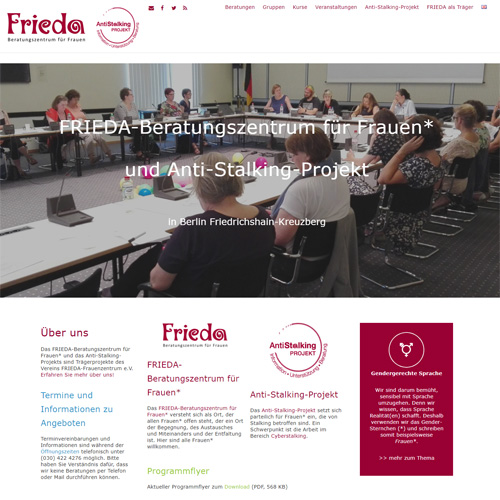 Relaunch mit CMS-Wechsel von TYPO3 zu WordPress | FRIEDA