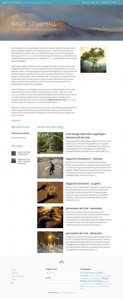 Ansicht der Ravenowl-Website-Startseite von Ulrike Ascher © Beyond Imagination