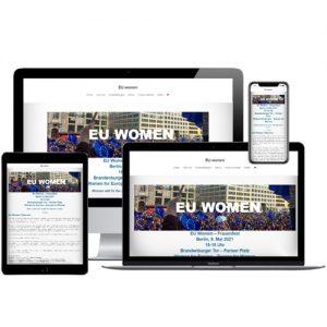 Website von EU Women auf verschiedenen Devices © Beyond Imagination