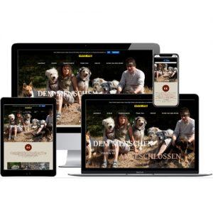 Website der Hundeschule Lucky Dog auf verschiedenen Devices © Beyond Imagination