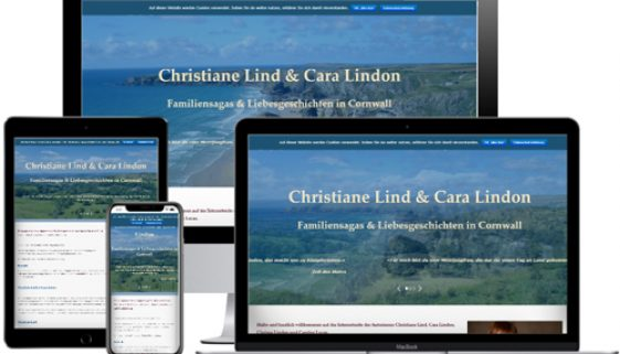 Website von Christiane Lind auf verschiedenen Devices © Beyond Imagination