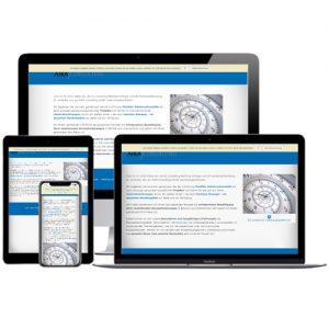 Website der AIKA Consulting GmbH auf verschiedenen Devices © Beyond Imagination