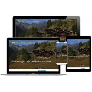 Website von Tra Cultura E Natura auf verschiedenen Devices © Beyond Imagination