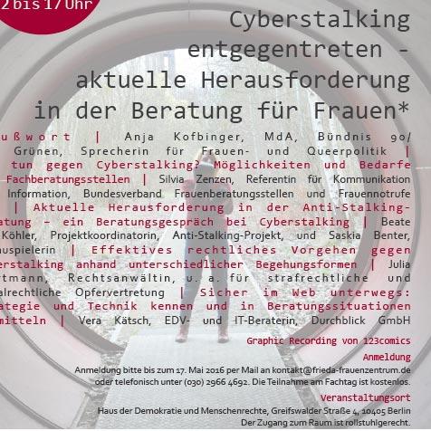 Plakat, Fachtag Cyberstalking entgegentreten